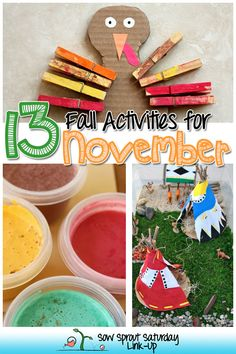 13 Fall and Thanksgiving Activities for November!