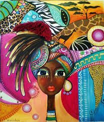 Risultati immagini per romina lerda artist Black Women Art, Black Art, African Art Paintings, Colorful Paintings, Africa Art, Diamond Art, Arte Pop, African American Art, Whimsical Art