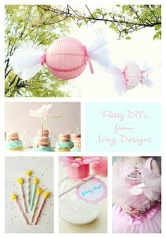 Pretty DIYs from icing designs by Free Pretty Things For You!, via Flickr-candy lights.