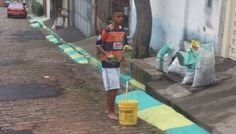 Man City's Gabriel Jesus was painting streets in Brazil for 2014 World Cup