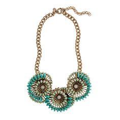 J. Crew Cactus Flower Necklace