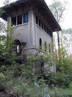 """Abandoned Railroad Control Tower"" -- [Alford, Susquehanna County, Pennsylvania. A railroad control tower built in 1917 and abandoned in 1937. Trains were switched from inside this concrete building.]~[Photograph by exakta - October 24 2006]'h4d-13.2013'"