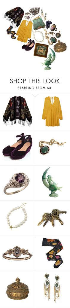 """allow this year before the world starts to end."" by aurenfaie ❤ liked on Polyvore featuring Kite and Butterfly, MANGO, mae, Roberto Cavalli, HYD and Alexis Bittar"