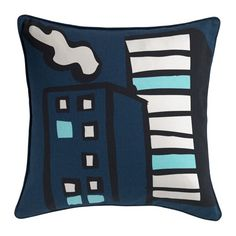 IKEA - GITTE, Cushion cover, You can easily vary the look, because the two sides have different designs.The zipper makes the cover easy to remove.