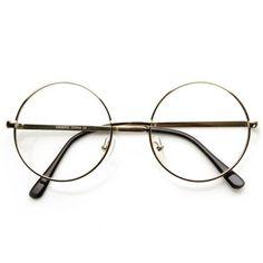 78ca4feaae12f Compre Óculos Masculino Nunca Usado no enjoei óculos com armação pequena  dourada e lentes transparentes.