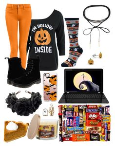 """""""Pre-Halloween"""" by a-valen ❤ liked on Polyvore featuring Dr. Martens, SONOMA Goods for Life, Azalea, Casetify and Rock 'N Rose"""