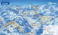 Pistkarta och skidåkning i Bad Gastein Ice Skiing, Alpine Skiing, Bad Gastein, Alpine Chalet, Winter Travel, Winter Holidays, Alps, Austria, Places To Visit