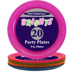 Party Essentials Colorful Hard Plastic 9 inch Party Plates - Pack of 20 Party Essential http://www.amazon.co.uk/dp/B00XWCYX2E/ref=cm_sw_r_pi_dp_65Ynwb14MPRP8