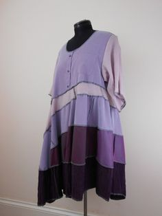 NOW REDUCED Upcycled Shirt Dress / Recycled Men's Shirts / Cotton Tunic Dress / Lagenlook Tunic Dress