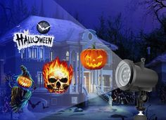 you could put them outside, but it will be much spookier to set this up in a living room Halloween Light Show, Halloween Party, Fair Grounds, Living Room, Cool Stuff, Outdoor Decor, How To Make, Living Rooms, Drawing Rooms