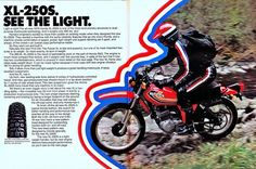 1978 Honda xl250s (Rickster G) Tags: pictures classic vintage honda ads photo flyer image photos picture motorcycles literature oldschool sl trail photographs 350 photograph motorcycle 70s dirtbike collectible sales brochure rare xl 250 thumper motorsport enduro dealer 125 twinshock vjm vinduro