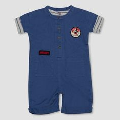 73ad93a5f Junk Food Toddler Boys  Disney Mickey Mouse Romper - Blue   Target Disney  Cars