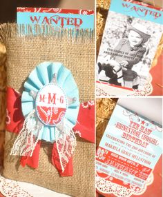 Custom Cowgirl/Cowboy Birthday Invitations by PaperPrincessStudios, $46.00
