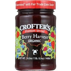Crofters Fruit Spread - Organic - Premium - Berry Harvest - 16.5 Oz - Case Of 6