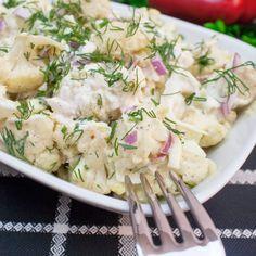 """Mult mai gustoasă decât salata """" Boeuf"""". O salată ușoară și rapidă cu conopidă - savuros.info Romanian Food, Potato Salad, Healthy Life, Vegetarian Recipes, Food And Drink, Lunch, Mai, Cooking, Ethnic Recipes"""