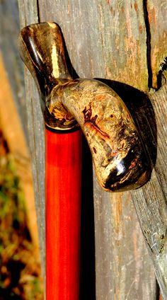 Buckeye Burl - Redheart - Shawn Gillis - (from the Mark Dwyer Collection) Walking Sticks And Canes, Walking Canes, Custom Canes, Buckeye Burl, Cane Stick, Whittling, Wood Projects, Diy And Crafts, Carving