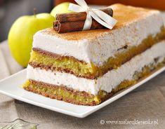 Apple Jelly Cake by Mala_Cukierenka Layered Desserts, Apple Desserts, Just Desserts, Delicious Desserts, Yummy Food, Polish Desserts, Polish Recipes, Sweet Recipes, Cake Recipes