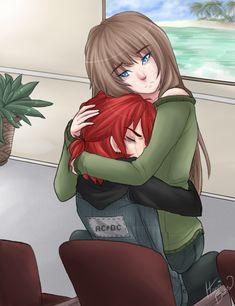 Mãe do caatiel abraçando ele quando ele era pequeno ♡