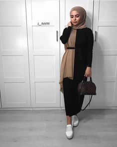 new Ideas for fashion outfits summer modest – Hijab Club Modern Hijab Fashion, Street Hijab Fashion, Hijab Fashion Inspiration, Abaya Fashion, Muslim Fashion, Mode Inspiration, Modest Fashion, Casual Hijab Outfit, Hijab Chic