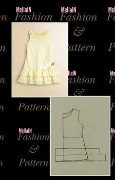 Dress For Girl Child, Kids Dress Wear, Little Girl Dresses, Baby Girl Dress Patterns, Dress Making Patterns, Baby Clothes Sizes, Fashion Pattern, Kids Frocks Design, Clothing Patterns