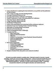 portfolio basics educate pinterest teaching portfolio