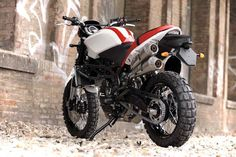 you definitely have some scruff on your chin if you ride one of these (moto morini scrambler). shame they're out of production, not to mention hopelessly overweight for their intended off-road use.