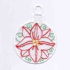 This free embroidery design is a Christmas ornament.  It will look super on your Christmas tree this year!
