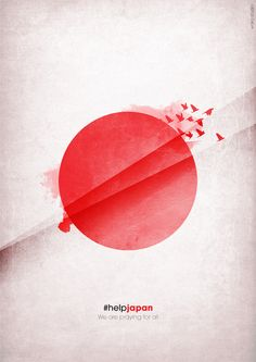 #helpjapan: a poster created to encourage support for the victims of the Tsunami, Paulo Granozio Chanquet