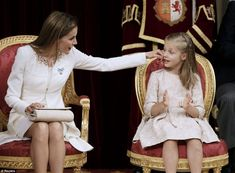 Sept. 19, 2014 King Felipe ascension, Queen Letizia and eight-year-old Princess Leonor