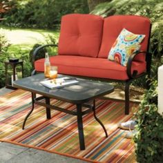 SONOMA outdoors Belle Harbor Stationary Love Seat & Coffee Table Set