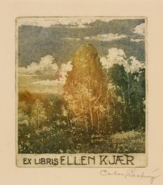 Art-exlibris.net - exlibris by Ctibor Stastny for Ellen Kjaer