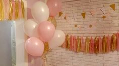 Decoration. Pink and gold