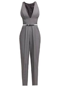 Miss Selfridge Plunge Mono Grey monos ropa Selfridge Plunge Mono Miss Grey Noe.Moda