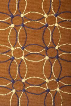 リングパターンキルト刺繍 - brown pattern