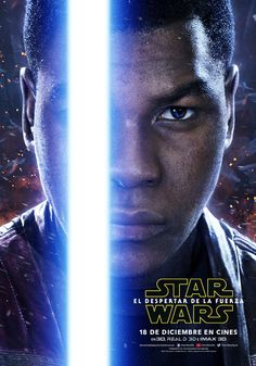 'Star Wars: The Force Awakens' Character Posters Revealed!: Photo Five new Star Wars: Episode VII - The Force Awakens character posters were just revealed: Finn, Rey and Kylo Ren, Han Solo and Leia! Star Wars Holonet, Finn Star Wars, Star Wars Watch, Carrie Fisher, Luke Skywalker, Star Wars Wallpapers, 3d Kino, Cadeau Star Wars, A4 Poster