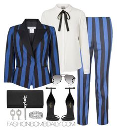 Untitled #1902 by dnicoleg on Polyvore featuring polyvore fashion style Carla Zampatti Yves Saint Laurent Carolina Bucci David Yurman clothing