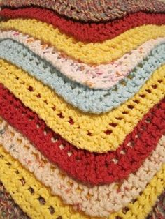 Sweet Bee Buzzings: Knitting with Grandma: Dishcloths