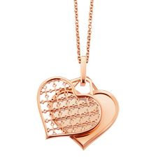 BIRKS MUSE Collection, Engravable Heart Pendant, in 18kt Rose Gold    Love. it.