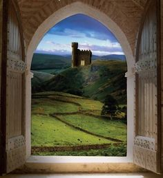 View from Castle Window in Wales