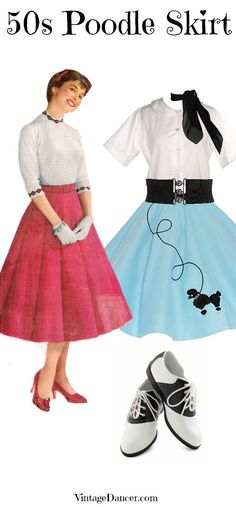 Poodle Skirt Outfit Gallery how to dress for a sock hop poodle skirt costume Poodle Skirt Outfit. Here is Poodle Skirt Outfit Gallery for you. 1950s Poodle Skirt, Poodle Skirt Costume, Poodle Skirt Outfit, Poodle Skirts, Vintage Outfits, 50s Outfits, Outfits For Teens, 1950s Style, Sock Hop Outfits