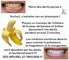 Le secret pour avoir des dents blanche avec une banane.