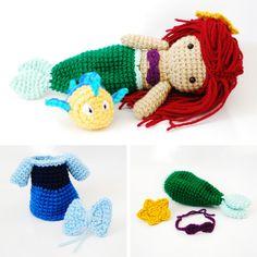 Ariel, The Little Mermaid. Crochet Amigurumi Doll  From Cyan Rose Creations on Etsy.