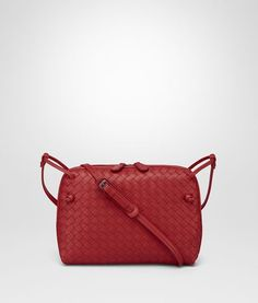 41b570a5a761 Bottega Veneta China Red Intrecciato Nappa Leather Nodini Bag Womens  Messenger Bag