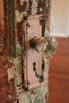 I love these colours and textures in this and I also have a passion for glass door knobs ~ Jayne