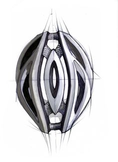 Sketchwall by Davide Anzalone, via Behance Cycling Helmet, Bicycle Helmet, Custom Playing Cards, Industrial Design Sketch, Helmet Design, Organic Form, Art Sketches, Architecture Design, Cool Designs