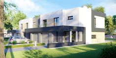 DOM.PL™ - Projekt domu CPT HomeKONCEPT-52 B2 CE - DOM CP1-63 - gotowy koszt budowy Single Storey House Plans, Home Fashion, Sweet Home, Mansions, House Styles, Design, Home Decor, Google, Home Projects