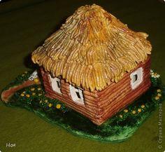 Лепка - домики из соленого теста-1