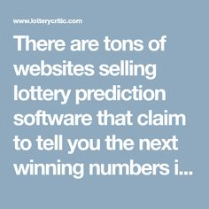 1498 Best LOTTERY images in 2019 | Winning the lottery, Games, Numbers