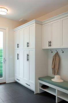 Smaller scale in our house, but I like the idea. Mud room
