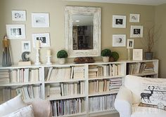 A Shabby Chic Living Room – Decorating On a Budget – Shabby Chic Talk Shabby Chic Living Room, Living Room Decor, Living Area, Vintage Shabby Chic, Shabby Chic Decor, Shabby Chic Zimmer, Decorating On A Budget, Decoration, Bookshelves